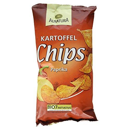 Alnatura Bio Kartoffelchips Paprika, 6er Pack (6 x 125 g)