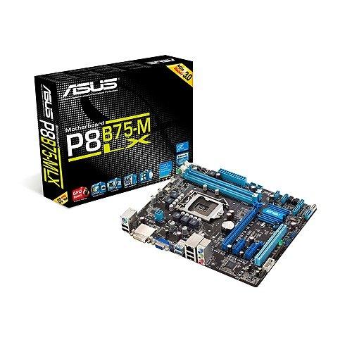 Asus P8B75-M LX Mainboard Sockel 1155 (Micro-ATX, Intel B75, 2X DDR3 Speicher, 1x SATA III, 4X USB 3.0)