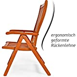 Deuba Sitzgruppe Moreno 8+1 Eukalyptusholz klappbar 9-TLG Tisch Sitzgarnitur Holz Gartenmöbel Garten Set - 4