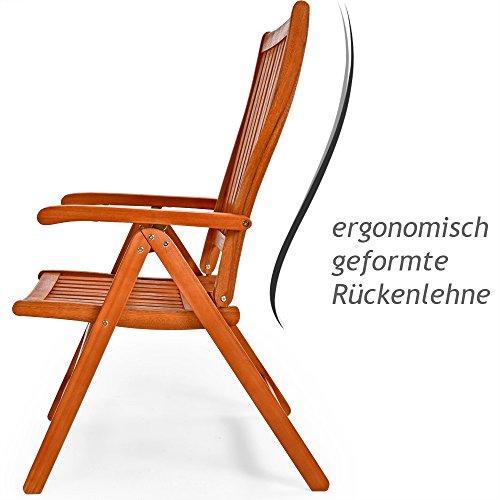 Deuba Sitzgruppe Moreno 8+1 FSC®-zertifiziertes Eukalyptusholz klappbar 9-TLG Tisch Sitzgarnitur Holz Gartenmöbel Garten Set - 5