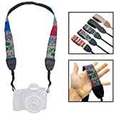 Lens-Aid Kameragurt in schickem Design: Leinen Nacken- BZW. Schultergurt geeignet für Kameras von...