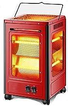 ZGYQGOO Calentador Meen, hogar Calentador Cinco Lados Estufa Oficina Estufa Calentamiento Calentador eléctrico Tubo Cuarzo Calentador Completo, 44 cm