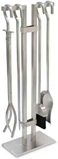 """Pilgrim Home and Hearth Stainless Steel Fireplace Tool Set, 18081, 304 Stainless Steel, Brushed Stainless Steel, 29"""" Tall"""