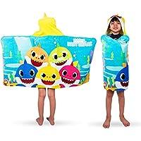 Franco Kids Bath and Beach Soft Cotton Terry Hooded Towel (Baby Shark)