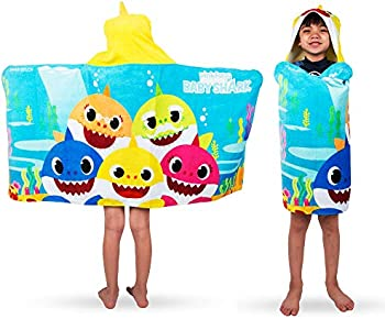 Franco Kids Bath and Beach Soft Cotton Terry Hooded Towel