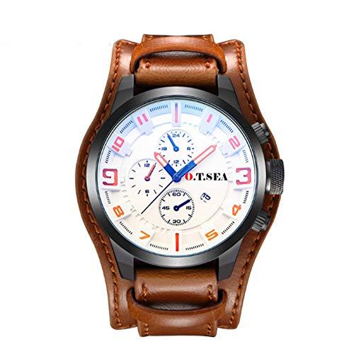 RONSHIN Horloges, Mannen Vrouwen Koppels Waterdichte Horloge Lederen Riem Lichtgevende Quartz Beweging Horloge Polshorloge