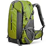 OutdoorMaster Hiking Backpack 45L - w/Waterproof Cover - Green