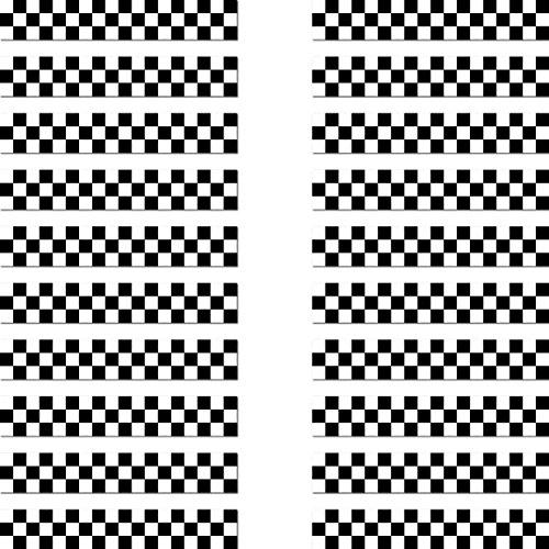GreenIT 20 Aufkleber 6,5cm Racing Streifen schwarz Zielflagge RC Modellbau Mini Sticker Modellbauaufkleber