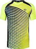 jeansian Herren Sportswear Quick Dry Short Sleeve T-Shirt LSL230 GreenYellow M