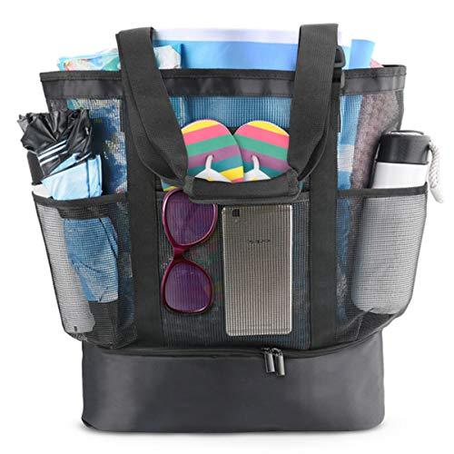Idefair Borsa da spiaggia a tracolla Borsa da viaggio, borsa da spiaggia per la spesa riutilizzabile extra grande Famiglia Borsa da picnic per esterno