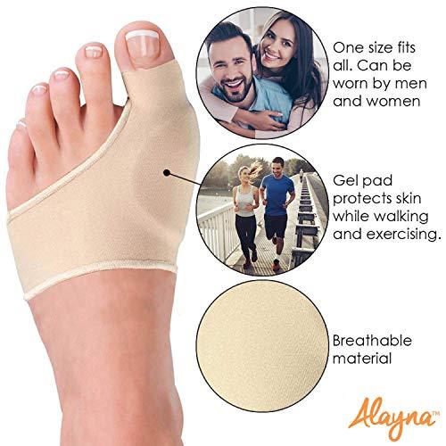 Bunion Corrector for Women & Men - Bunion Pads Relief Orthopedic Sock Cushion Sleeve Splint Gel Protector...