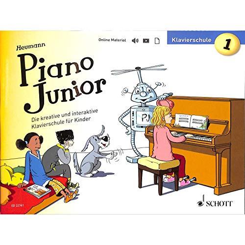 Piano Junior: Escuela de piano 1 – La escuela de piano creativa e interactiva para niños – ED22761-9783795700409