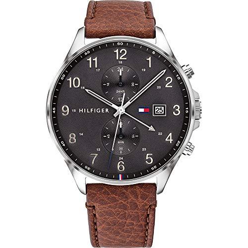 Tommy Hilfiger Herren Analoger Quarz Uhr mit Leder Armband 1791710