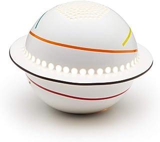 Lampada in Ceramica SATURN con Cromoterapia, decoro Arcobaleno