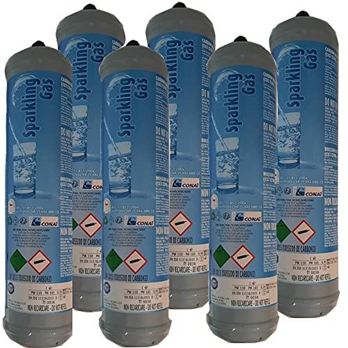 TermoidraulicaRV 6 bombole Co2 600 gr. monouso Attacco M11x1 per refrigeratori e gasatori d'acquasantiera e gettata e Getta