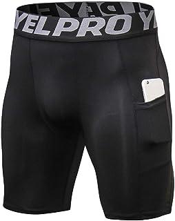comprar comparacion ruiruiNIE Pantalones Cortos de compresión de Talla Grande para Hombre de Laterales Leggings Deportivos de Secado rápido Le...