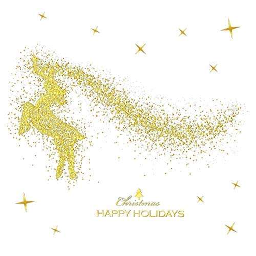 Great Price! Kiminana Christmas Decorations Without Glue Electrostatic Stickers 2019 Merry Gold Hous...