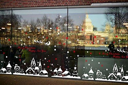 Lunule Navidad Copos Nieve Pegatinas Pared Navidad