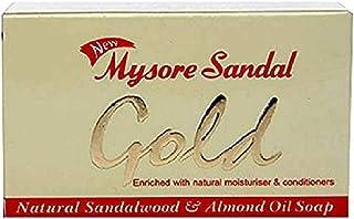 Mysore Sandal Gold Soap, 125 Grams Per Unit (Pack of 6) - Purest Sandalwood Soap - 100% Pure Essential Oils - Grade 1 Soap...