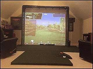 Ultimate Golf Impact Screen Frame 120 x 105 x 14 + 3 ft side walls for Skytrak Golf Simulator