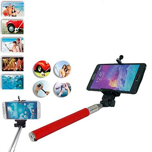 Universale selfie bastone per viaggi casa Campaign foto fotocamera iPhone 44S 55S 6/Samsung Galaxy S3S4S5/Note II III/HTC/Sony/LG–rosso