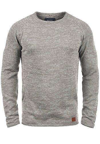 Blend Dan Herren Strickpullover Feinstrick Pullover Mit Rundhals Und Melierung, Größe:M, Farbe:Zink Mix (70815)