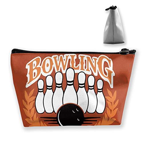 Iop 90p Bowlingball Tragbare Kosmetiktasche Trapeztasche für Reisen, Polyester, Schwarz, Einheitsgröße