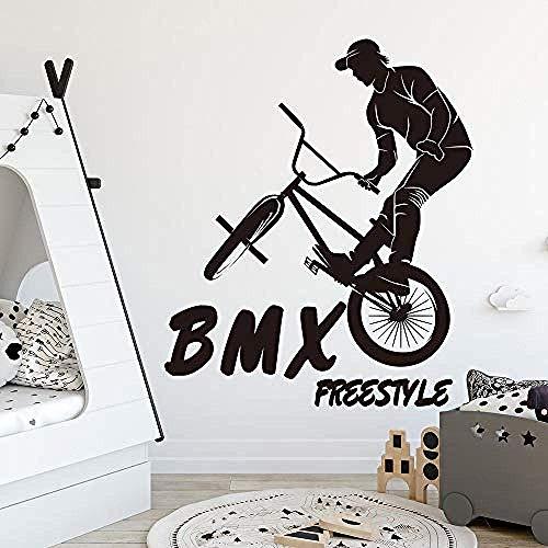 Wandaufkleber Great Extreme Sport BMX Fahrrad Fahrrad Junge Zimmer Kinderzimmer MTB Fahrrad Fahrrad Aufkleber Schlafzimmer Vinyl Dekor 56X47cm