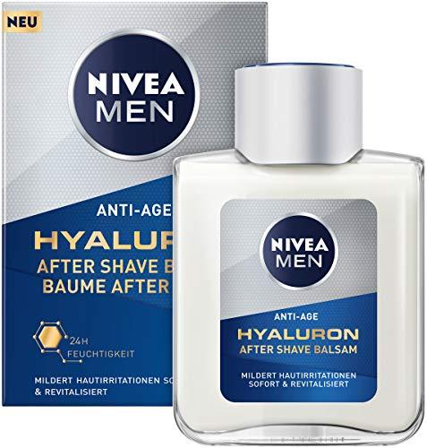 Nivea Men Anti-Age Hyaluron After Shave Balsam (100 ml), revitalisierendes After Shave mit Hyaluron, feuchtigkeitsspendende Hautpflege nach der Rasur