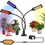 Grow Light for Indoor Plants, 153 LED Plant Light Full Spectrum Auto Timer 7 Lighting Modes & 6 Dimming Levels, Clip On Grow lamp with Adjustable Gooseneck for Seedling Growing Blooming Fruiting