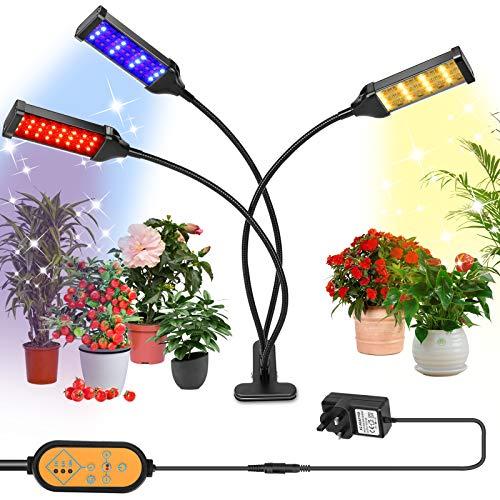 Grow Light for Indoor Plants, 153 LED Plant Light Full Spectrum Auto Timer...
