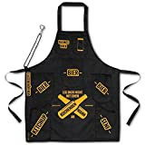 Männer Grillschürze mit 7 Taschen und Flaschenöffner - Mann am Herd Kochschürze Küchenschürze - 5