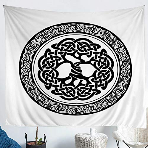 Celtic Knot Tapestry Elegant Celtic Lines Tapestries for Kids Boys Girls Retro Medieval Style Wall Hangings Abstract Art Throw Blanket Ultra Soft Decorative Room Lightweight Small 51x 59