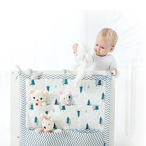 Organizer a 9tasche, da appendere su un lato del lettino del bambino, per vestiti, pannolini e giocattoli