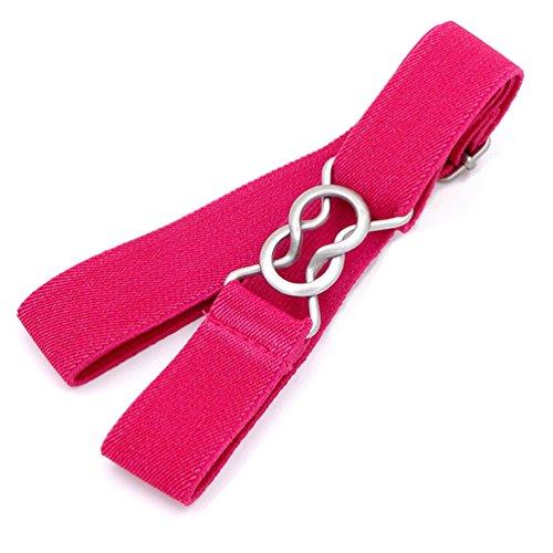 Uroruns Kids Toddlers Belts Elastic Stretch Adjustable Belt For Small Boys Girls School Uniforms With Easy Buckle , Hot-pink ,Older 3T/ Belt Length : 13'-27'