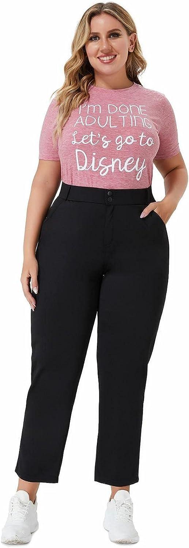 Women's Black Plus Size high Waist Double Button closuredress Pants