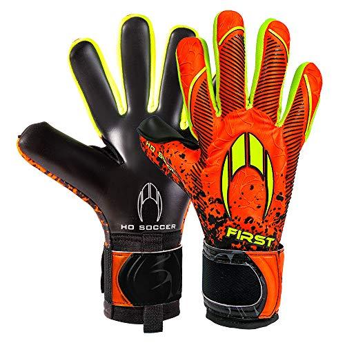 HO Soccer First Superlight Torwarthandschuhe, Unisex für Erwachsene Einheitsgröße orange/schwarz/Limette