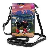 Minnie y Mickey Mouse Ballons Day - Bolso bandolera pequeño para mujer con ranuras para tarjetas de crédito