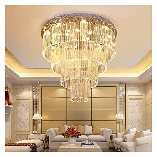 Palm kloset Lámpara de Cristal de 3 Colores Regulable Lámpara de Techo LED Moderna de Lujo Decoración del hogar Sala de Estar Dormitorio 70 × 70 × 65cm