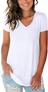 SAMPEEL Women's Basic V Neck Short Sleeve T Shirts Summer...