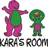 Barney and Friends Baby Bop Dinosaur Customized Wall Decal - Custom Vinyl Wall Art - Personalized Name - Baby Girls Boys Kids Bedroom Wall Decal Room Decor Wall Stickers Decoration Size (30x30 inch)