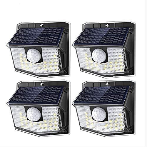 Luz Solar Exterior,Luz Solar Led Sensor De Movimiento Pir Al Aire Libre Luces 19.5% Panel Solar De Alta Eficiencia 270 Ángulo De Iluminación Amplio