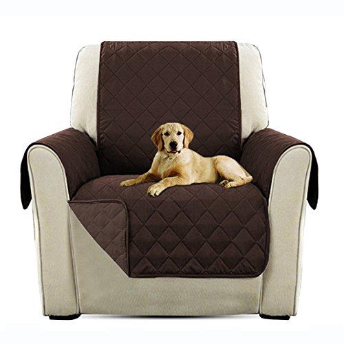 PETCUTE Lujo Cubre para Silla Fundas de Sofa Protector de sofá o sillón, Dos o Tres plazas Marrón Silla