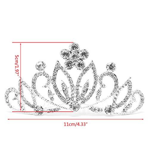 Niumanery Bridal Rhinestones Flower Party Hair Clip Comb Headpiece Crown Wedding Diamante