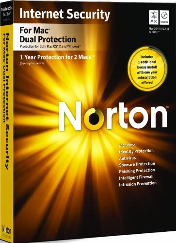 Norton Internet Security Dual Protection MAC 2010 - 1 User 2 Machine [import anglais]