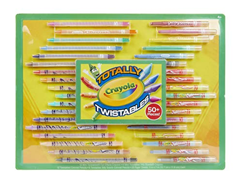 Crayola Twistables Crayons & Colored Pencils Set, Features Scented & Fun Effects, Gift for Kids, 61Piece, Mulitcolored, Model:04-0520