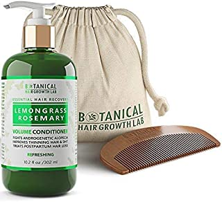 Botanical Hair Growth Lab Biotin Conditioner - Lemongrass Rosemary Formula - Anti Hair Loss Complex - DHT Blockers, Sulfate Free, Natural Ingredients for Men & Women - 10.2 Fl Ounce
