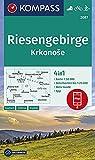 KOMPASS Wanderkarte Riesengebirge, Krkonose: 4in1 Wanderkarte 1:50000 mit Aktiv Guide und Detailkarten inklusive Karte zur offline Verwendung in der ... Langlaufen. (KOMPASS-Wanderkarten, Band 2087)