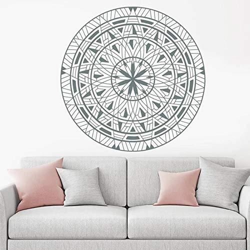 Mandala Etiqueta de la pared Yoga Moda Patrón indio Etiqueta de viento Mandala Arte de la pared