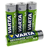 VARTA 731 505 Rechargeable Ready2Use Accu Ready2Use vorgeladen AA Mignon Ni-Mh Akku (4er Pack, 2600...